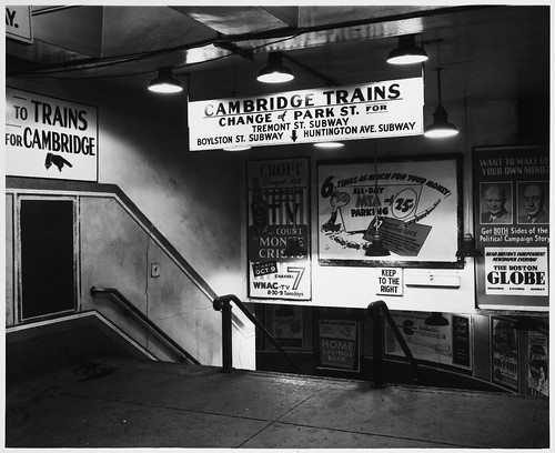 Subway Station Entrance, Interior, Summer Street | by MIT-Libraries