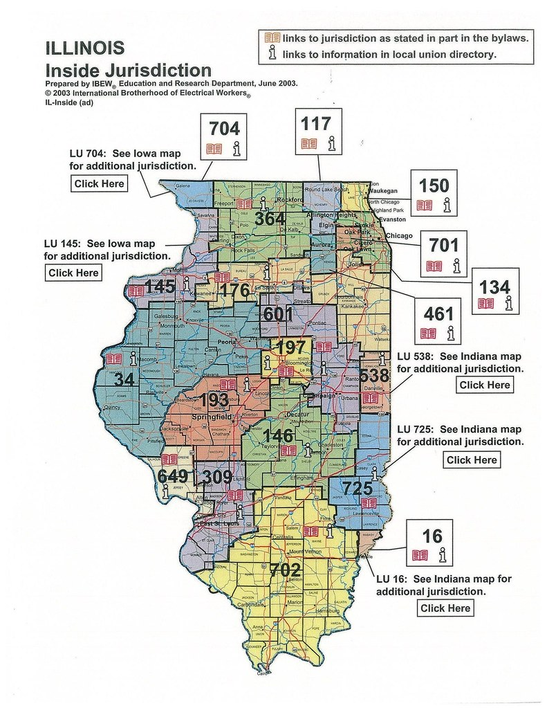 Illinois Jurisdictional Map | IBEW 601 | Flickr