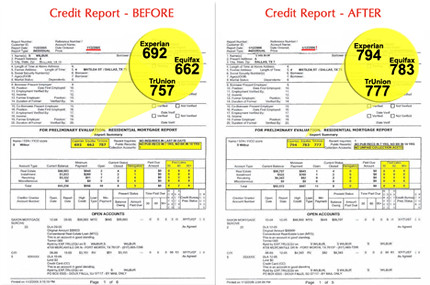 Credit Report - Before and After | by TrinityCreditServices