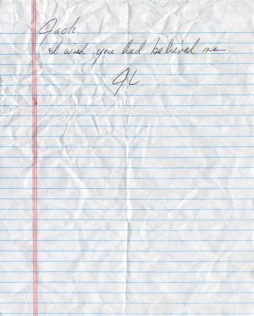 LOST John Locke's Suicide Note