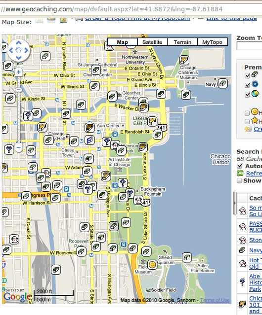 Screenshot- Geocaching Maps chicago | The way I plan my trip ... on ww1 trench maps, 17th century maps, scavenger hunt maps, ad&d maps, navigation maps, astronomy maps, civilization 5 maps, social studies maps, science maps, alternate history maps, geology maps, high quality maps, spanish speaking maps, types of maps, pathfinder rpg maps, ham radio maps, geoportal maps, aviation maps, old vintage maps,