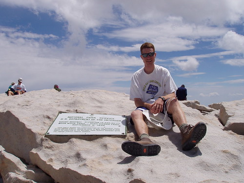 Me next to the summit plaque.