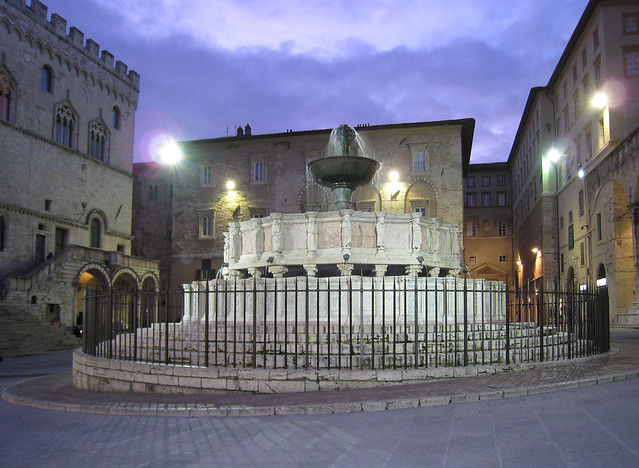 Perugia (Italy) Fontana Maggiore by Night
