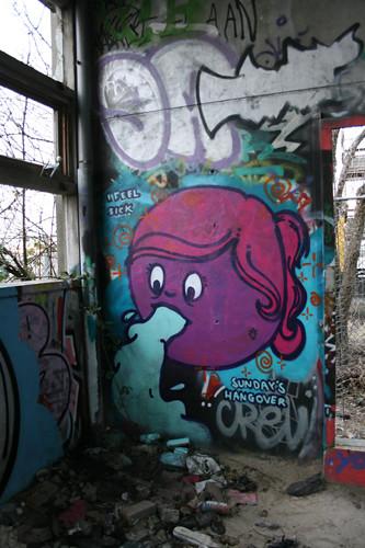 F.Lady graffiti character