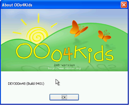 OOo4Kids - The about box