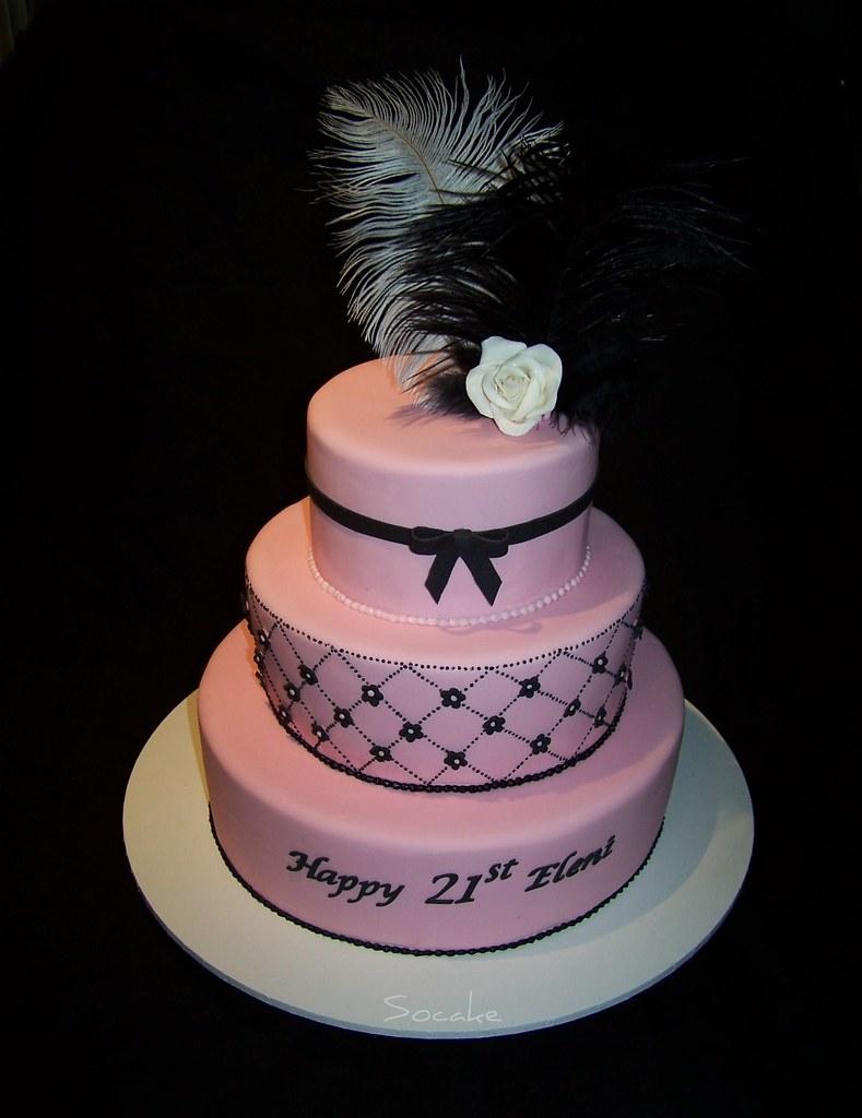 Elenis 21st Birthday Cake