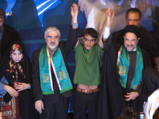 Khatami Supports Mousavi in Presidential Elections, Tehran, Iran (Persia)