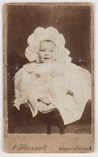 A Carte De Visite Of A Baby In A Bonnet A Maxwell Carte D