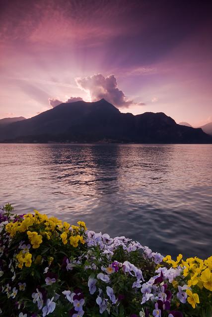 Rays Over Lake Como