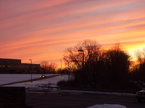 pink winter sunset white cold yellow parkinglot pittsburgh pennsylvania 2009 robinson supershot