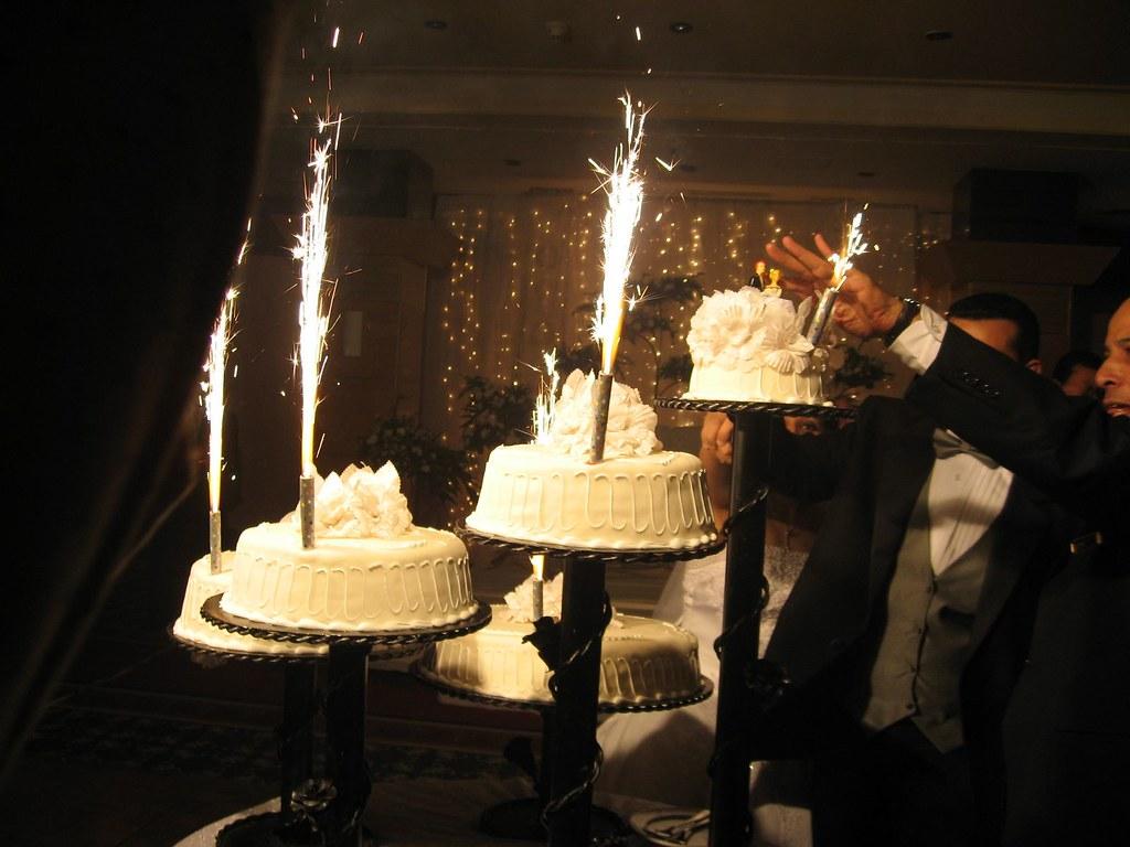 Fine Wedding Cake Big Birthday Cake Sparklers Skylighter Co Flickr Funny Birthday Cards Online Elaedamsfinfo