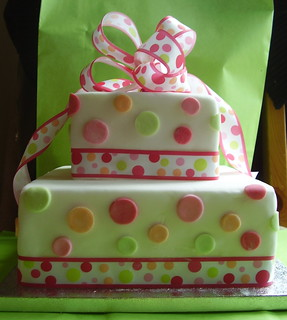 polka dot gift box cake | by Suzanne's Bespoke Bakery