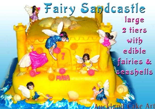 FAIRY SANDCASTLE BEACH BIRTHDAY CAKE