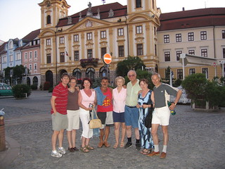 Posing with extended family from Czech Republic