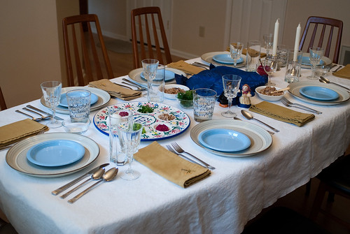The Seder table | by Bill Wetzel