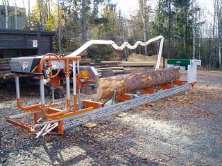 Logosol backyard sawmill | Logosol Norwood Lumbermate E-twin… | Flickr