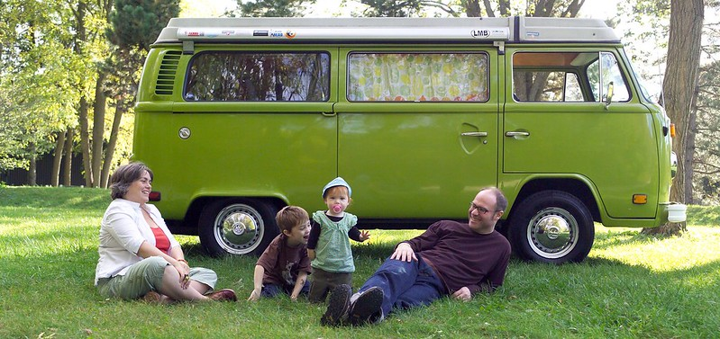 a family and their bus