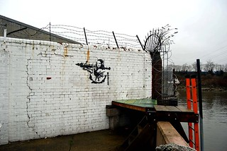 Banksy in Trinity Bouy Wharf | by maggie jones.