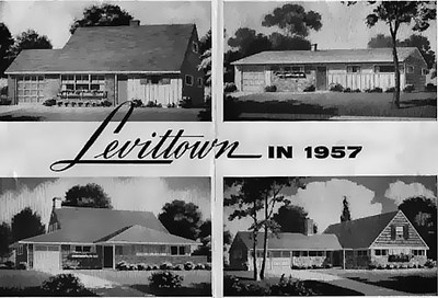 Levittown in 1957, image from promotional brochure