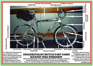 A0 Hackney Bike Workshop Italian Leaflet 2009