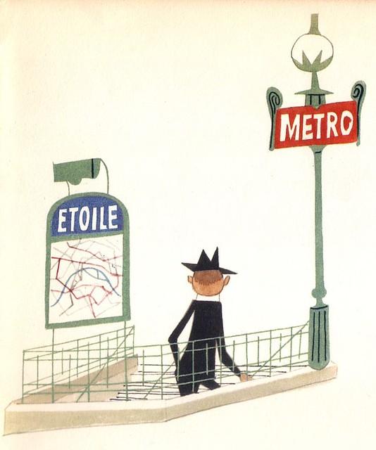 Station De Metro Dessin Extrait D Un Livre De Mon Enfance