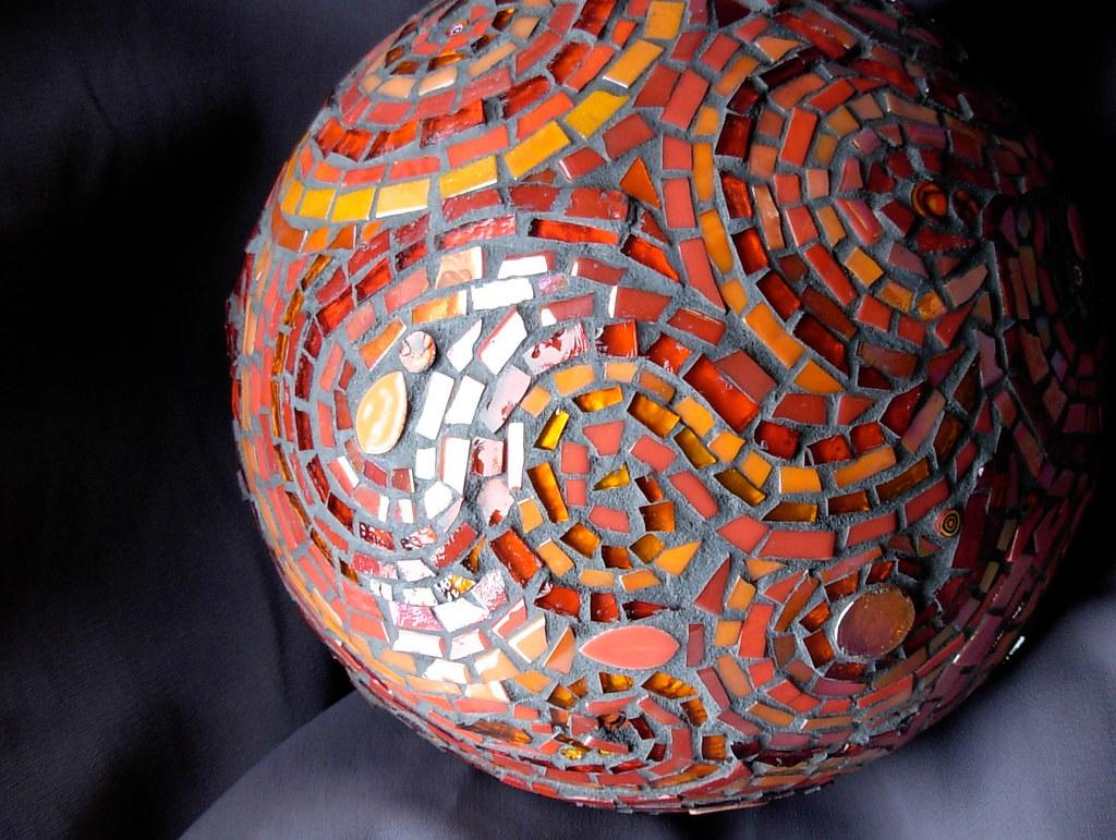 Mosaic Gazing Ball Detail Margaret Almon Mosaics Commissio Flickr