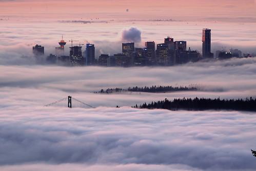 fog vancouver clouds sunrise day cypress lionsgatebridge