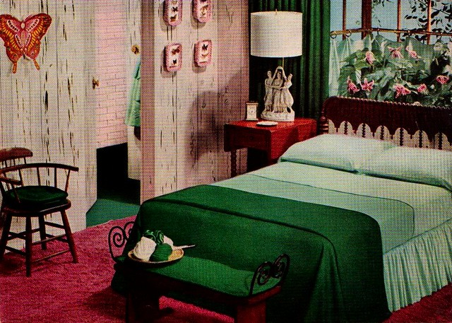 Green and Pink Bedroom   \