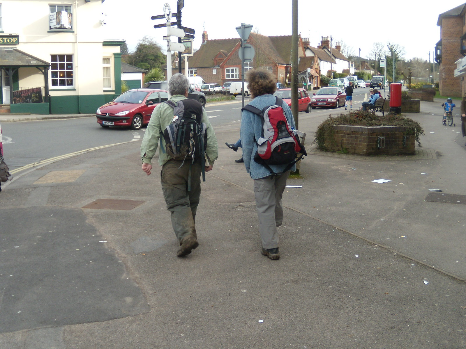 Two elegantly attired walkers Petersfield to Liss That's the Whistlestop they're headed for.