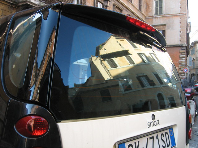 Smart Car reflection, Rome