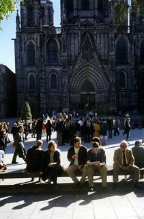 Candy, Dairn and John, Barcelona Cathedral, 2000