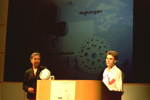Evita and me presenting Nightingale at Apple HQ | by ianus