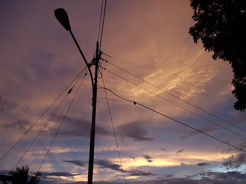 sunset sky cloud wire streetlamp dago goldenhours