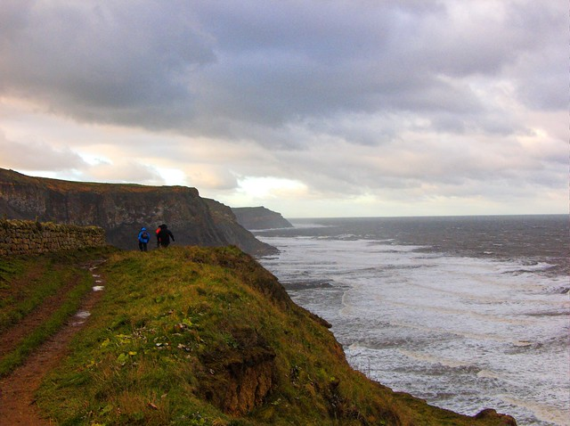 Walking Path along Cliff in the UK