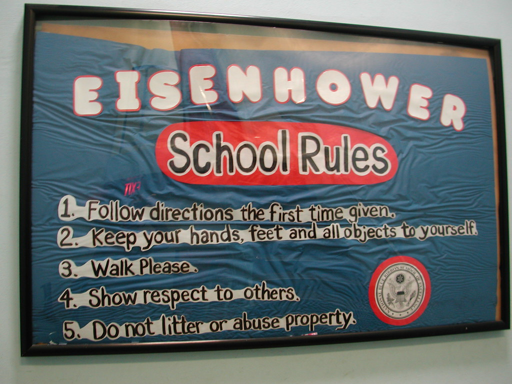 Eisenhower School Rules