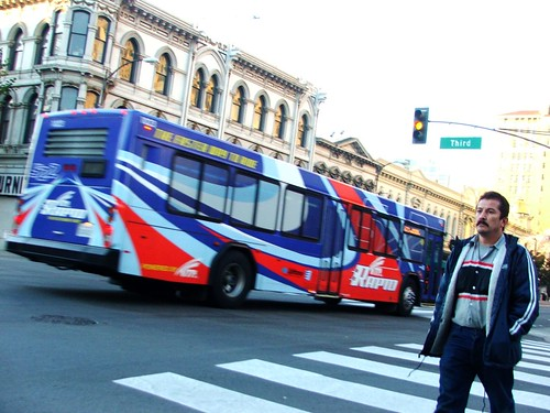 man and bus cross Third at Santa Clara, December 10, 2005 | by /\/\ichael Patric|{