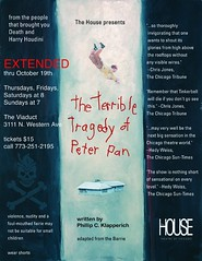 Sun, 2005-12-11 16:45 - From The House Theatre of Chicago's production of The Terrible Tragedy of Peter Pan.