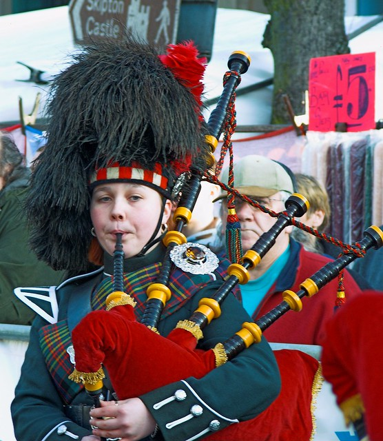 Female Bagpipe Player