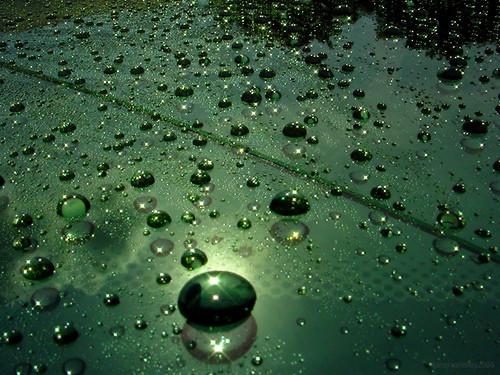 Gorgeous green globular glistening