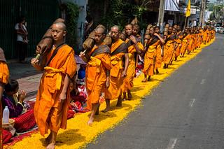 500 Dhutanga Monk Procession