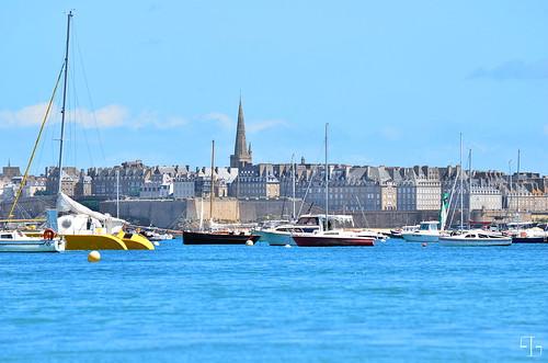 entre mer et ciel bleus, Saint-Malo