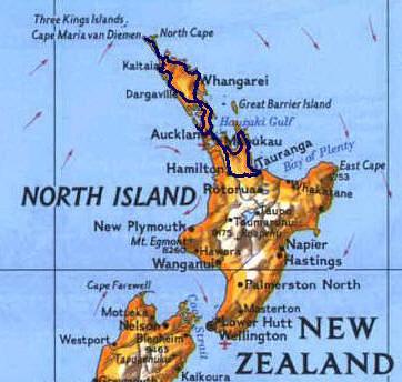 New Zealand Northland Map Detailed.New Zealand Northland Map Chris Kt Myles Flickr