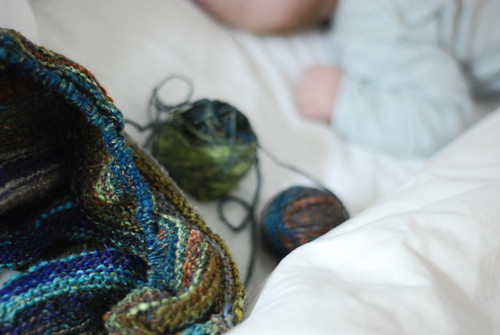 knitting in bed | by SouleMama