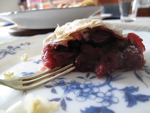 Hungarian sour cherry strudel | by The Way of Slow Travel