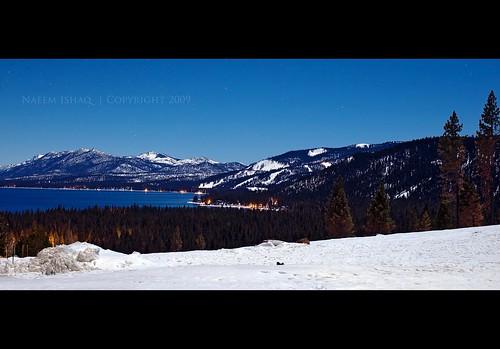 longexposure blue winter sky moon lake snow ice water night stars nikon long exposure tahoe laketahoe moonlight nikkor 50mmf12ais aplusphoto