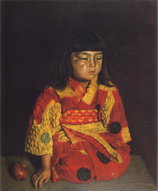 岸田劉生「麗子坐像」(1919)