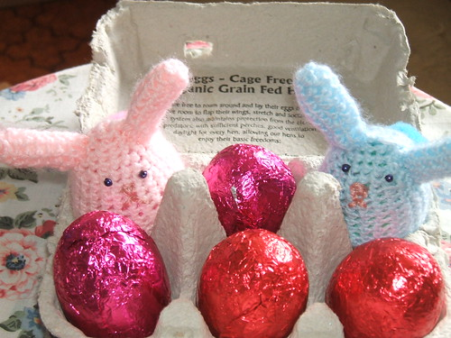easter bunny egg cosies | by sezzarambling