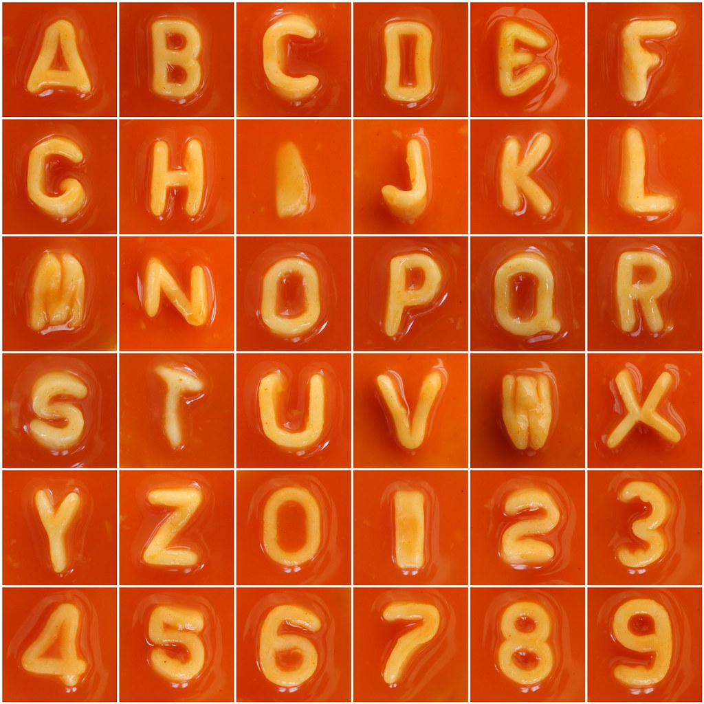 Spaghetti Letters & Numbers