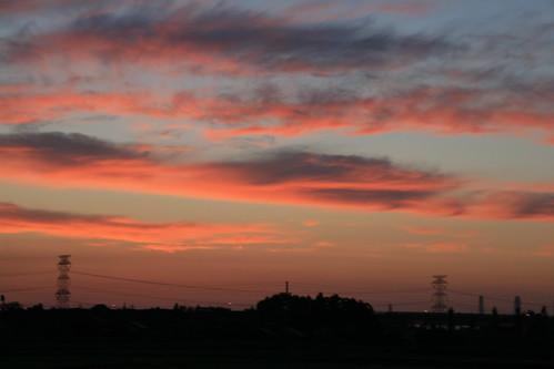 sunset college japan geotagged niigata keiwa 敬和学園大学 geo:lat=37956211 geo:lon=139292285