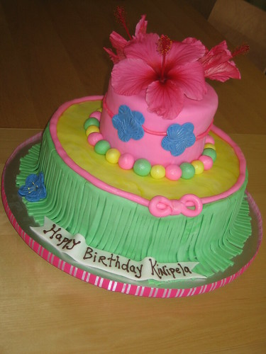 Hawaiian Luau ~ Birthday Cake | by Frost Cake Co.